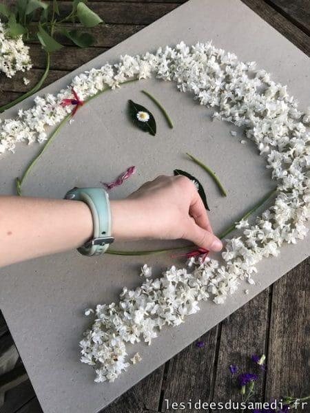 activite avec des fleurs