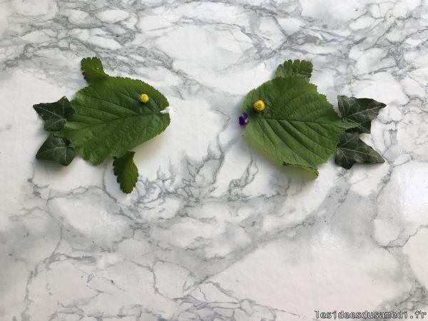 petits poissons en feuille jardin