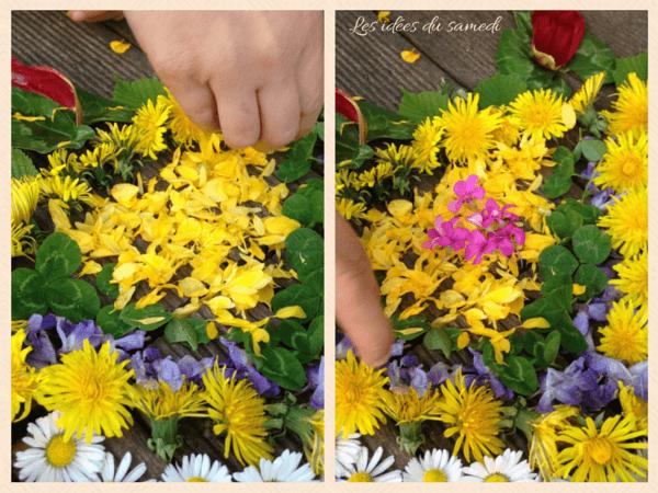 disposition fleurs landart
