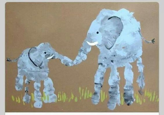 elephanteau maman handprint