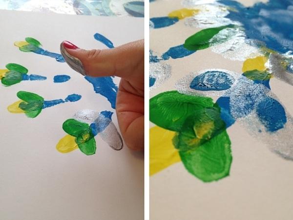 empreine doigts peinture