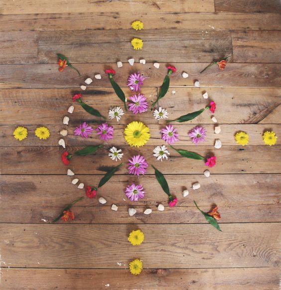 landart for kids flower