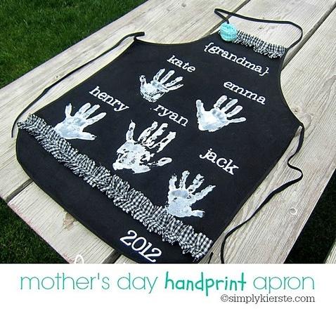 tablier fete maman handprint