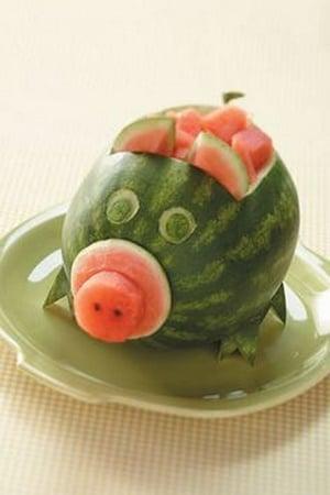 cochon pasteque