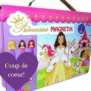 Un jeu à emporter partout: le coffret Princesses Magnetik de Doux Moulin