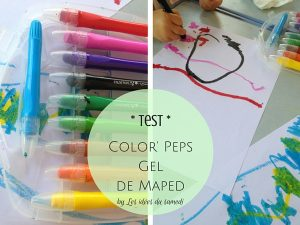 test color peps gel maped
