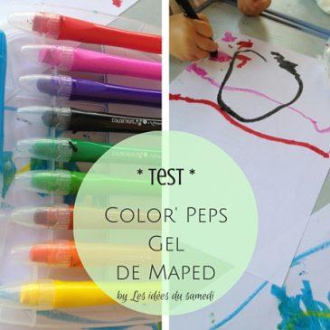 Test extrême des craies grasses Color Peps Gel de Maped