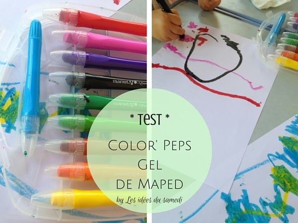 test color peps gel maped