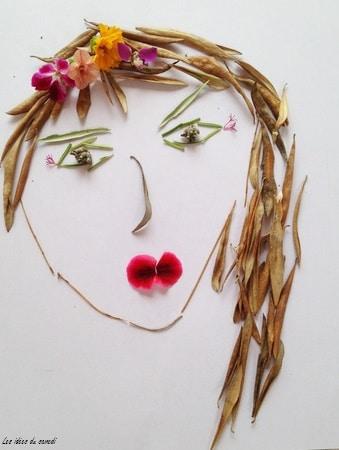 visage fleur landart