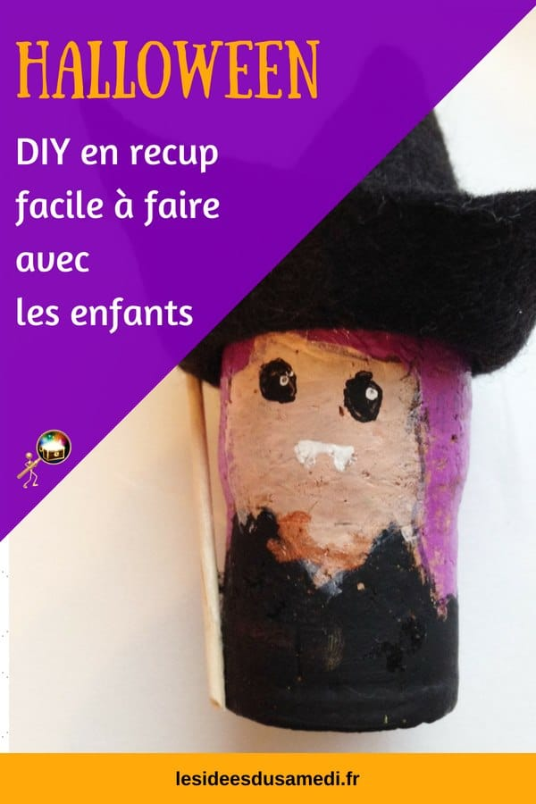 bricolage facile halloween bouchons