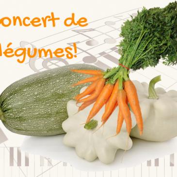 DIY instruments de musique et concert de légumes!