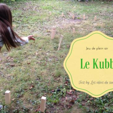 Jeu extérieur en bois: Kubb #osonsjouer