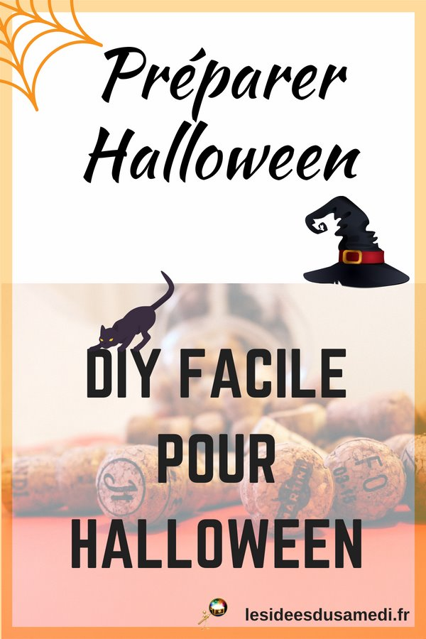 preparer halloween bricolage facile