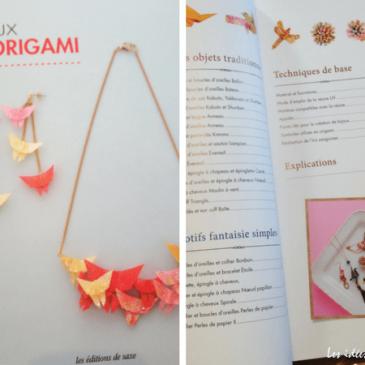 Bijoux en origami: tutos et modèles aux Editions de Saxe