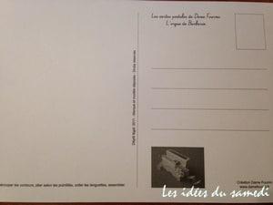 carte postale dos