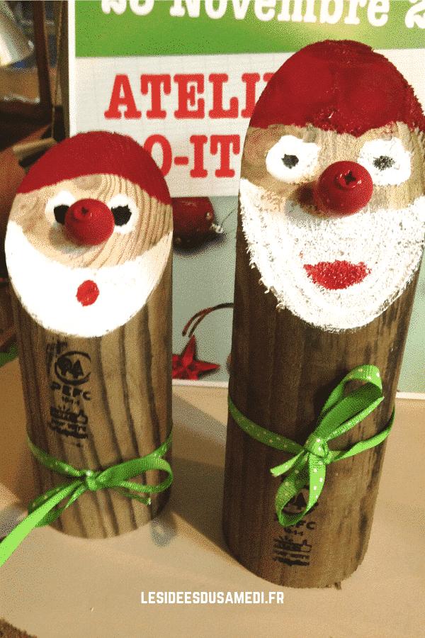decorations noel en bois lutin
