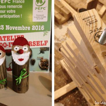 Faire ses decos de Noël avec du bois qui respecte les forêts
