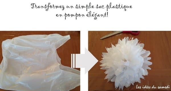 Comment faire un pompon avec un sac plastique #recup