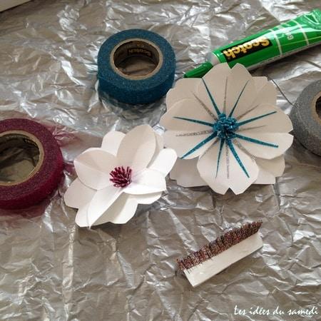 fleurs-papier-paillettes