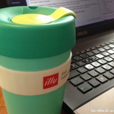 Mug de voyage KeepCup de Illy: café et ordinateur font enfin bon ménage! [concours]