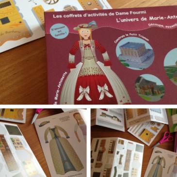 Paper toy: on teste le coffret jouet en papier Marie-Antoinette de Dame Fourmi