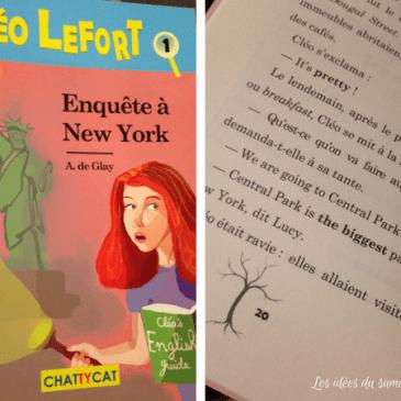 Livre bilingue anglais français: Cléo Lefort aux Éditions Chattycat