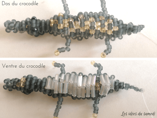 crocodile perles rocaille