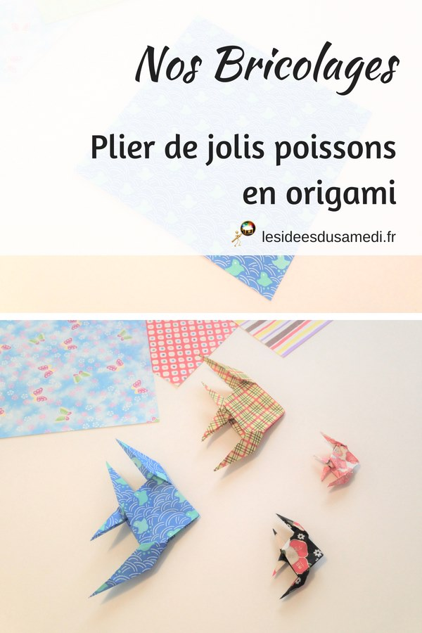 comment plier de jolis poissons en origami