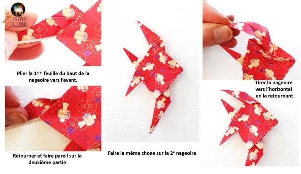 etape pliage nageoire poisson ange origami etape2 detail