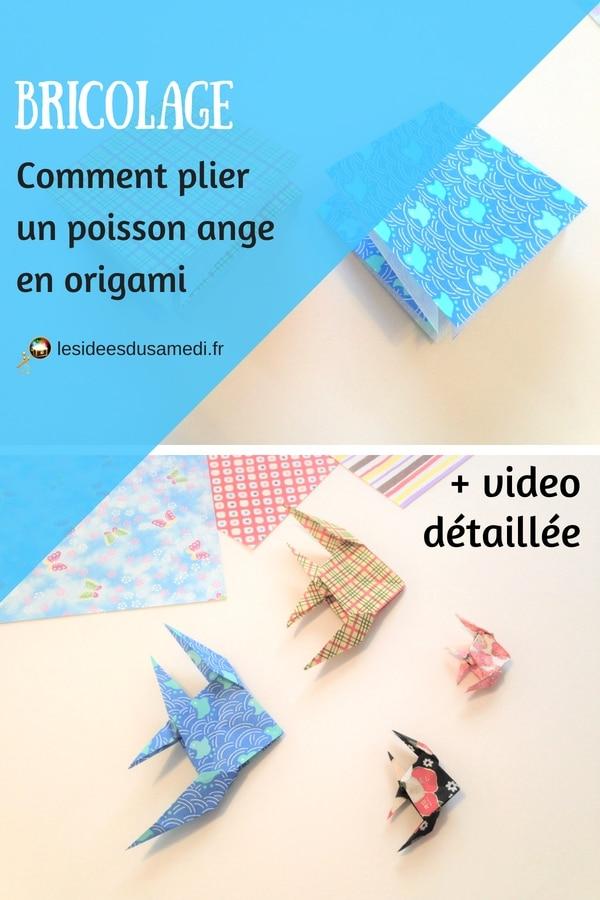 comment plier poisson ange origami