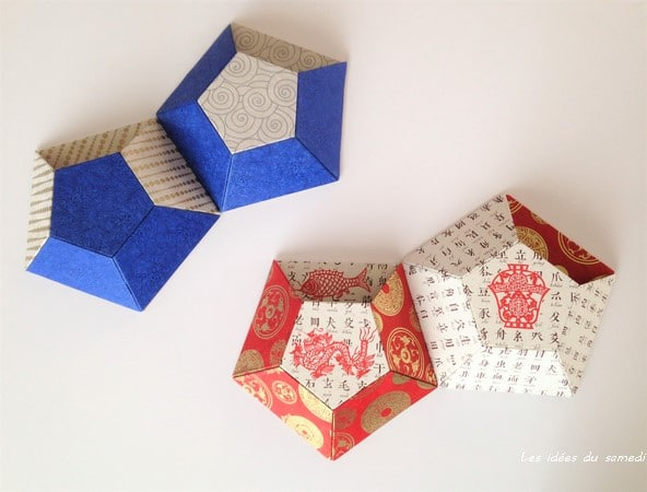 Déco murale: kit boîtes multifacettes en cartonnage de L'Eclat de Verre