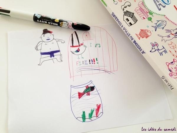 dessin stylo couleurs