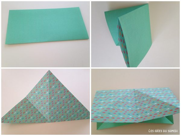 etape1 lapin en origami
