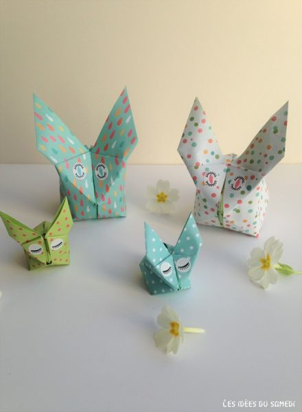 faire lapin origami paques