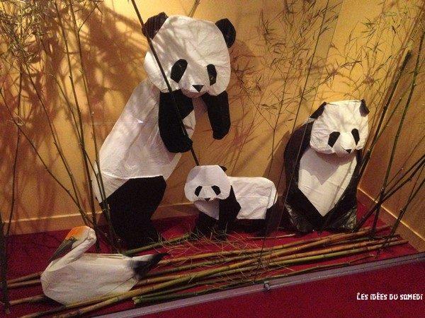 famille panda origami