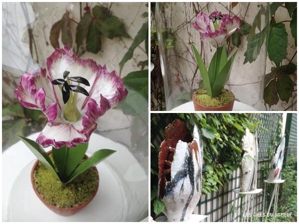art contemporain fleurs