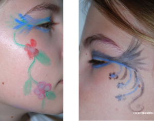 fleurs maquillage simple