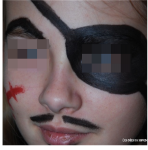 maquillage pirate simple