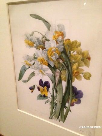 peinture fleur romantique