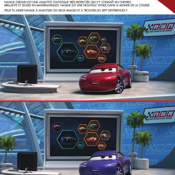 cars3 jeu differences disney