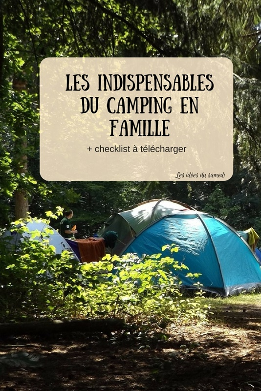 indispensable camping famille