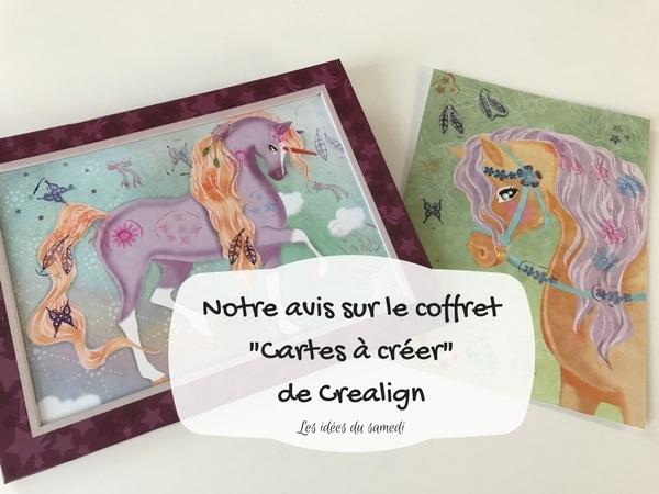 Coffret créatif chevaux dès 6 ans: les cartes à créer Crealign