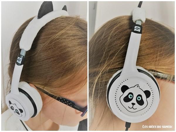 casque audio rigolo panda