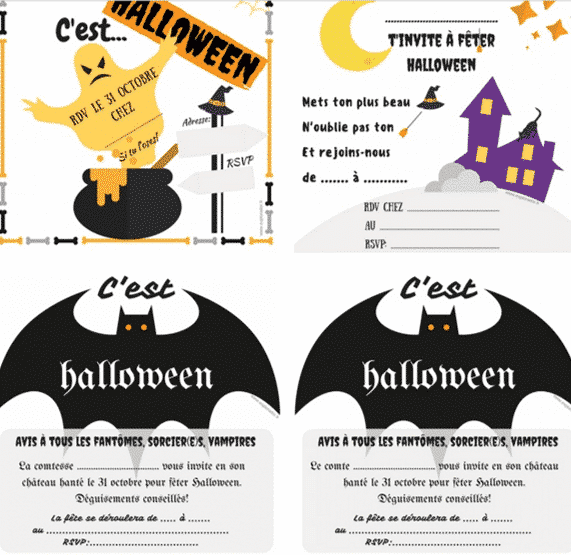 invitation halloween imprimer explorador