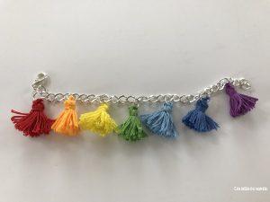 bracelet tassel rainbow