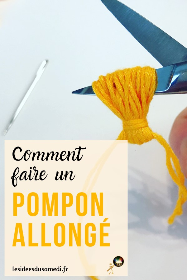 comment faire un pompon gland avec fourchette