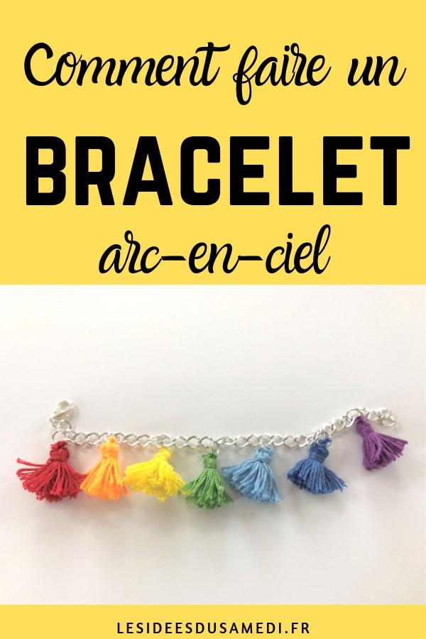 fabriquer bracelet breloque pompon