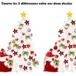 jeu des differences noel printable