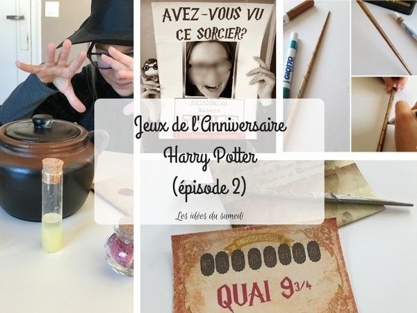 jeux printable anniversaire harry potter