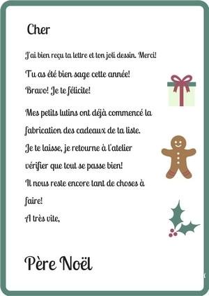 Lettre Au Pere Noel Personnalise.La Reponse Du Pere Noel Des Lettres A Telecharger Et Un Jeu
